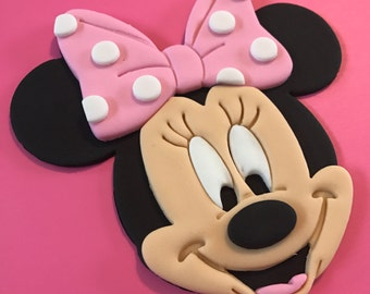 Minnie Mouse Inspired Cake Topper-Fondant