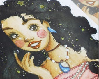 Art Print: Disney inspiriert Moana Vaiana