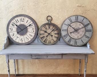 Miniature Clock,  Miniature Wall Clock, Dollhouse Clock, 1 Inch Scale Miniatures, Miniature Furniture
