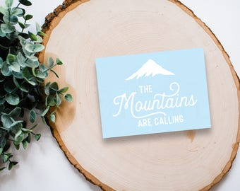 The Mountains Are Calling Decal - Vinyl Sticker, Vinyl Decal - Car Decal, Laptop Sticker, Window or Bumper Sticker