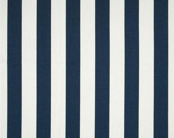 Navy blue and white stripe, chair pads, or bench cushion, Tufted seat cotton,