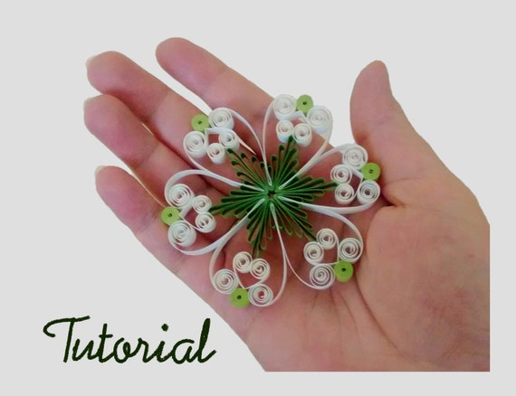 Items similar to quilling pattern tutorial step by step for Easy quilling designs step by step