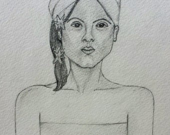 BALI GIRL Original DRAWING