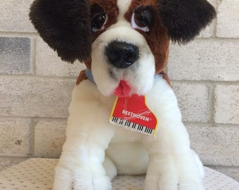 "Beethoven Dog Plush, Vintage Beethoven dog, Beethoven's 2nd Plush 13"" Plush Dog w Tag RARE"