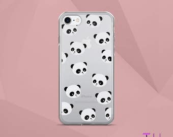 Panda Clear iPhone Case | iPhone 6 Case iPhone 6s Case iPhone 7 Case iPhone 7 Plus Case | Cute Pandas Phone Case | Spring 2017 iPhone Case