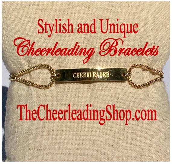 Cheerleading Friendship Bracelet 3 Colors, Cheerleading Jewelry, Cheerleading Gift, Cheerleading Bracelet, Cheerleading Quote, Cheer Jewelry