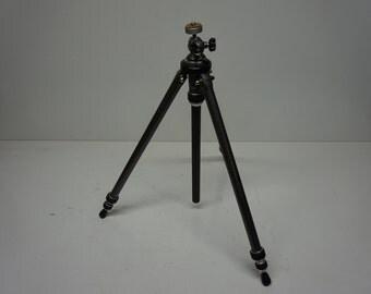 Vintage Metal Camera Tripod, Sturdy Telescoping Tri Pod, Photography, Still Photos, Screw Mount, Collapsible, Portable
