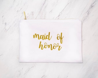 Maid of Honor Gift: Makeup Bag