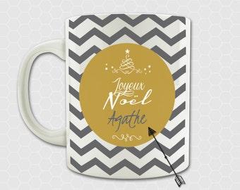 Personalised mug Christmas - with name - Merry Christmas present