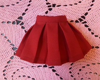 Red Pleated BJD Skirt for SD / MSD  / yosd / leekeworld art body