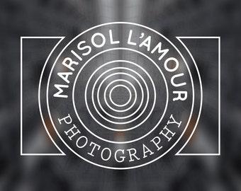 Premade Logo Photographer Photography logo clean lines modern custom stamp watermark editable choose font change colors customer service
