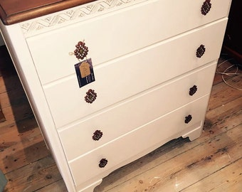 SOLD - Vintage painted Chest of Drawers