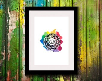 Printable Artwork-Digital Print-Wall Decor-Wall Art-Astrological Sign-Astronomy Decor-Cancer Zodiac Print-Zodiac-Astrology Gifts-Cancer