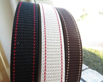 PR3500-321-25 Preppy Webbing 30 mm  | Double Stitches | Japanese Import
