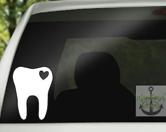 Molar Decal, Tooth Decal, Dental Assistant, Dental Hygienist, Dental Decal, RDH