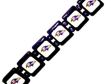 Baltimore Ravens bracelet. Baltimore Ravens wristband.