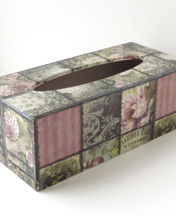 Decorated Tissue Box Wooden Tissue Box Cover Wood Home Decor