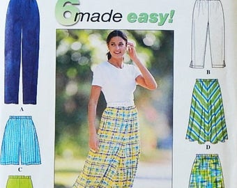 Misses' Pants, Shorts and Skirt Pattern - Sizes US (6-16), Euro (32-42), FR (34-44) - Simplicity 6 Made Easy Pattern - Uncut
