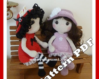 Crochet Pattern, pattern, tutorial, Amigurumi doll Michelle