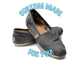 Custom Painted TOMS shoes, choose your design