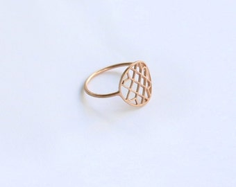 Minimal -  Silver 925 - Lace Ring - Ring - Rosegold//Silver//goldplated