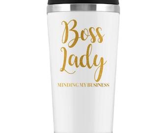 Boss Lady Travel Tumbler | Boss Lady Travel Mug | Girl Boss | Boss Lady Cup