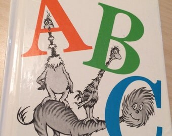 Dr. Seuss book, ABC, vintage