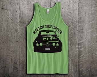 Alfa Romeo Giulia Tank Top, Classic Alfa t shirts, Vintage cars shirts, cars tanks, Alfa shirts, Giulia tanks, Unisex Tank top, gym tanks