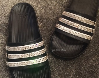 Adults Crystal Adidas Slides