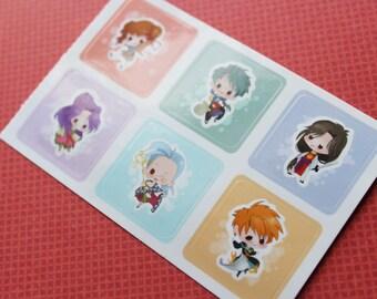 Fushigi Yuugi Mini Sticker Set