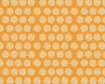 Riley Blake, Good Natured, Fireflies Orange, by Marin Sutton, 100% Cotton Fabric, By the Yard, C4082 Orange