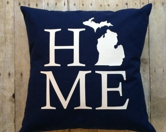 Michigan Home Pillow Cover- Michigan Pillow- State pillow cover- Pillow Cover- Michigan Pillow Cover- Michigan Home- Michigan gifts