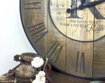 Rustic Farmhouse Clock - Rustic Wall Clock - Rustic Home Decor - Large Wall Clock - Handmade Clock - Rustic Clock - Reclaimed Clock