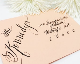 "Wedding Calligraphy Envelope Addressing/Save the date/Envelope Addressing/Hand Lettering/ Custom Wedding Address ""Jacqueline"" Style"