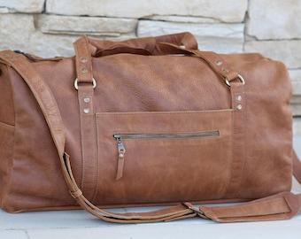 Leather duffel,mens womens travel duffle bag,duffel,weekender bag,personalized,overnight bag,sports gym bag,monogrammed mens womens bag