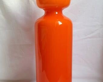 Vintage orange 1970 opaline vase / large vase retro / contemporary / modern / minimalist / gift original marriage MOM Grandma