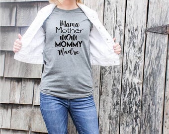 Women's Mother Mama Mommy, Mom Shirt, Mom Life Shirt, Women's Tank Top, Graphic Tee, Women's Graphic Tee, Mothers day gift, Trendy shirts,