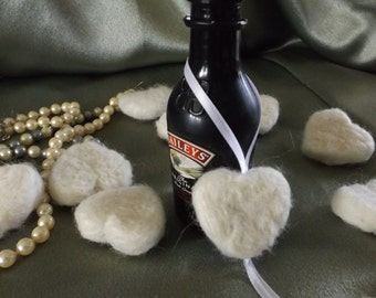 50 Felted Hanging Heart Wedding Favors