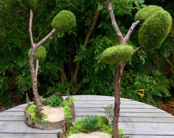 Fairy Garden Display, Woodland Fairy Stand, Fairy cake topper