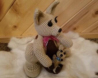 Momma Kanga and Baby Roo  Kangaroo Stuffed Animal Toy
