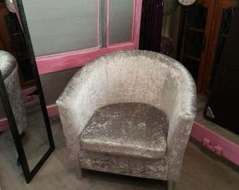 Crushed Velvet Tub Chair