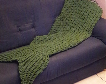 The siren handmade blanket with crochet-made to order