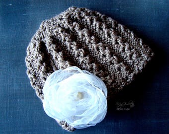 Children, Babies Crochet Hat, Babies Accessory, Brown Hat, Crochet Hat for Children, Handmade Hat for Children, Baptism Hat for Children