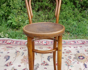 Vintage Bentwood Chair, Classic Antique Bentwood Bar Chair, Old Dining Chair