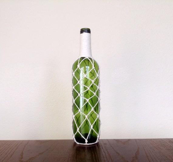 Items similar to green wine bottle vase flower vase up for Wine bottle flower vase