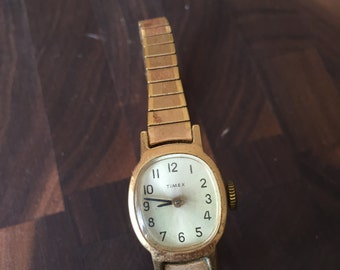 Vintage Gold Women's Timex Wrist Watch