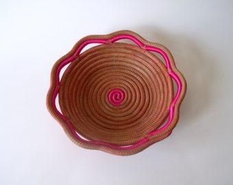 Woven Basket, Boho Basket, Home Decor, Rustic Basket, Home Decoration, Home Art, Pine Bowl, Bowl, Rustic Bowl