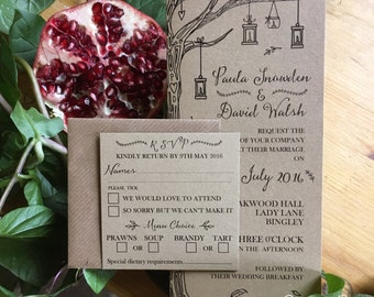 Rustic wedding invitation, Wedding invitation suite, rustic wedding, wedding invitation, wedding stationery, invitation suite, hygge wedding