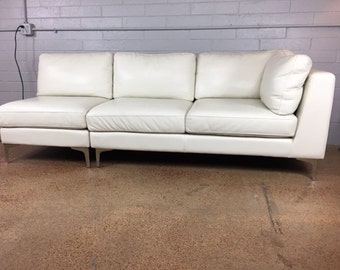 Design Within Reach Leather Sofa by American Leather Company