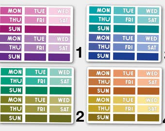 Days of the Week, Planner Stickers, ECLP Stickers, HP Stickers